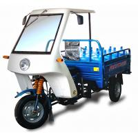 China 250cc big power motor cargo tricycle with cabin carry water&food on sale