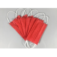 Cheap Anti Spray 3 Ply Red OEM Disposable Earloop Mask for sale