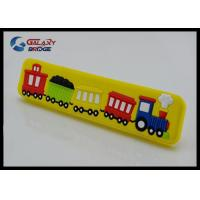 Buy cheap Big Train Colorful Rubber Drawer Pulls Cartoon Knobs 32mm Soft Plastic Kids Bedroom Furniture Handles from wholesalers
