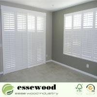 Cheap PVC Foam Exterior Non-Faded White Vinyl Plantation Shutter Window for sale