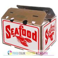 Cheap Seafood Waxed Corrugated Box (WB-042502) for sale