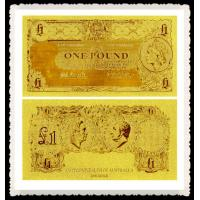 Cheap Australia Gold Banknote One Old AUD Pure 24K Gold Leaf Plated For Collection Gifts for sale