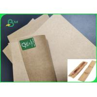China Oilproof 30gsm 40gsm 45gsm Food Kraft Paper For French Baguette High Strength on sale