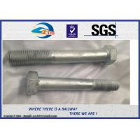 Cheap Railway High Strength Hex Bolts Grade 10.9 M24 With HDG Coating for sale