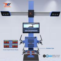Cheap Two Monitor 3D Front End Alignment Equipment T58 Mobile For Cars With Four Cameras for sale