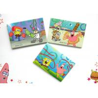 Cheap Decorative SpongeBob Picture Fridge Magnets with Rubber Magnet , Iron , Printing Paper for sale