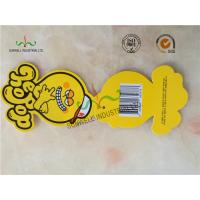 Cheap Personalized Yellow Octopus Swing Tags Glossy Varnishing Finished 2 Side wholesale