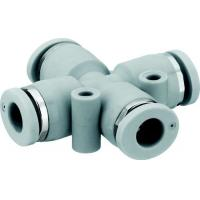 China Brass 2-way hose connector with shut-off valve on sale