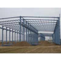 Cheap Prefab Agricultural Steel Frame Buildings , Long Span Steel Structures With Sandwich Panels for sale