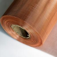 China Phospher Bronze / Brass / Copper Wire Mesh With Excellent Permeability on sale