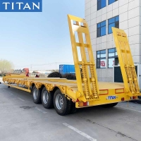Cheap 3 Axle Low Bed Truck 50 Tons Low Loader Trailers for Sale in Nigeria for sale