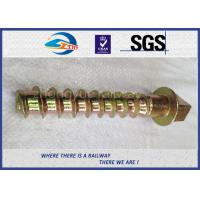 Cheap 8.8 Grade 45# steel coach screws Spike with yellow zinc coating for sale
