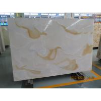 Cheap White Quartz Solid Stone Countertops / Solid Surface Kitchen Countertops for sale