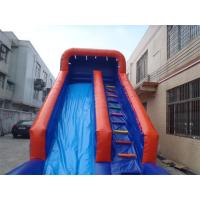 Cheap Exciting inflatable Interactive Games water slide with pool For Adults / Kids for sale