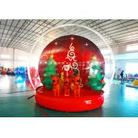 Buy cheap Holiday Decoration Large Christmas Inflatable Snow Globe 3m To 8m Diameter from wholesalers