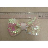 Cheap Sequin ribbon 14cm artificial flower corsage in 14cm length for knot for sale