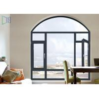 Quality A Rated Storm Impact Arched Aluminium Windows , Soundproof Aluminium Curved Windows wholesale