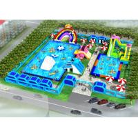 Buy cheap System Project Inflatable Water Park With Pool Slide For Land CE / UL Certificated from wholesalers