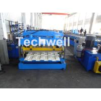 Quality 7.5KW Metal Tile Roll Forming Machine For Color Steel / Galvanized Coil wholesale