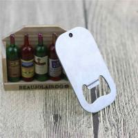 Cheap Cheap Promotion Gift Blank Engrave Logo Stainless Steel Dog Tag Bottle Opener with Ball Chain for sale