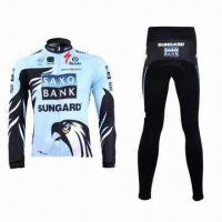 Cheap Cycling Jacket and Pants with Reflective Piping and YKK Zipper for sale