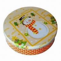 Cheap Gift Tin Box, Measures Ø230x58mm for sale