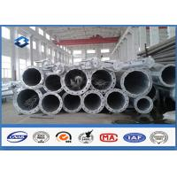 Cheap HDG Electrical Tubular Steel Pole High strength low alloy structural steels for sale
