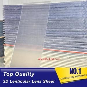 Cheap 70LPI PET 0.9MM 60X80CM Lenticular Plastic lens for 3d lenticular printing by injekt print and UV offset print for sale