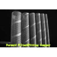 Cheap SUS304 / 304L SS Perforated Metal Tube , Filtration / Separation Tubes For Water Treatment for sale
