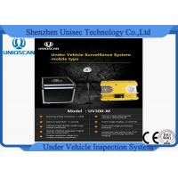 Cheap Hig resolution CCD camera UV300m under vehicle inspection system from Uniqscan for sale