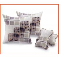 China Square Printed Cotton Throw Pillows / Sofa Cushions 45x45cm For Car Seat on sale