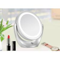 Cheap White Two Sided Magnifying Makeup Mirror 360 Degree Rotation CE ROHS FCC for sale