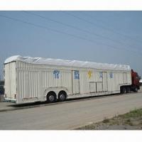 Cheap Car Carrier Semi-trailer with 2 Axles, 1 Tool Box and 8 Passengers Loading Capacity for sale