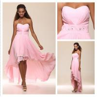 Cheap Angel Bridal 2013 New Blushing Pink High Low Sweetheart Chiffon Prom Gown Formal Evening Dress With Beadings #00169406 for sale