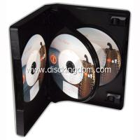 Cheap 14mm 6 disc DVD case soft PP CD case,plastic CD box with tray for sale