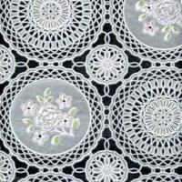 China Easy-to-clean Tablecloth with Crochet Texture and PVC Lace, Color Printed with Crochet Texture on sale