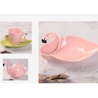 Buy cheap Ceramic Tableware Animal 130CC Flamingo Tea Set from wholesalers