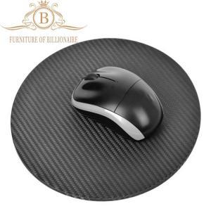 Cheap Round Shape Top Quality Carbon Fiber  Durable Fashion Mouse Mat for sale