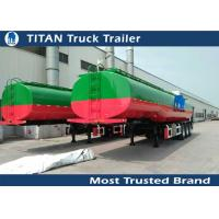Cheap 1 3 5 Compartment fuel tanker semi trailer with 3 axles 50000 liters for Ghana for sale