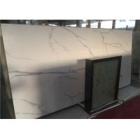 Cheap Calcutta White Marble Bathroom Vanity Countertops Low Water Absorption for sale