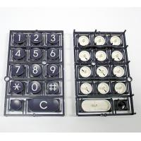Cheap Telephone Keyboard Double Injection Molding Process Parts Black And White for sale
