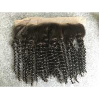 Buy cheap Brazilian Kinky Curly 13x4 Lace Top Closure Human Hair Ear To Ear Lace Frontal from wholesalers
