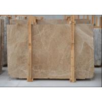 Cheap Light Cream Engineered Stone Countertop , Polished Marble Tile Kitchen Countertops for sale
