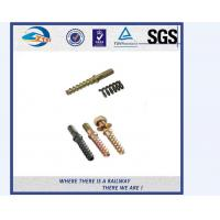 Cheap Q235 35# 45# DHS 35 Railroad / Railway Sleeper Screws , Tensile strength ≥800Mpa for sale