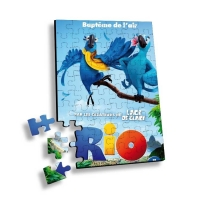 Cheap Flip 3D Lenticular Printing Service Children Educational Toy 3D Jigsaw Puzzle for sale