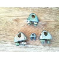 Cheap Various Color Rigging Hardware / Wire Rope Clips Zinc Galvanized Surface for sale