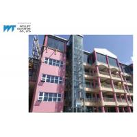 Cheap Machine Roomless Commercial Exterior Elevator , Exterior Glass Elevator Speed 1.0-1.75M/S for sale