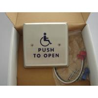 Cheap 4.5 Round Push To Exit Switch / Handicap Accessible Door Openers With Disabled Logo for sale
