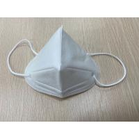 Cheap Stocked KN95 Disposable Pollution Mask White Color Three Dimensional Breathing Space for sale