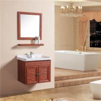 Cheap Double Doors Floating Sink Vanity , Wall Mounted Sink Cabinet With Mirror And Shelf for sale